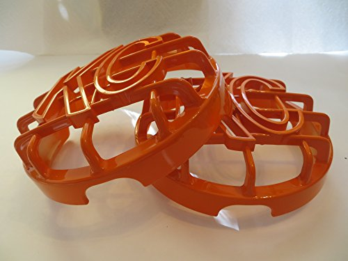 KC HiLiTES 6' Grill Guards KC Light Covers, Solid Orange Set of 2 (NOT for Apollo)