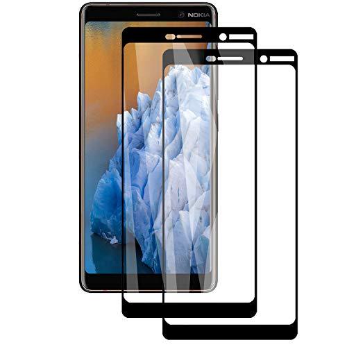 PUUDUU Cristal Templado para Nokia 7 Plus, 2 Piezas Cobertur