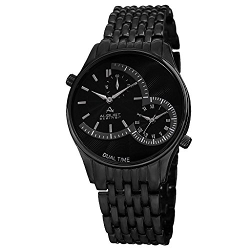 August Steiner Armbanduhr Men'S Quartz Dual Time Bracelet Watch Analog Schweizer Quarz