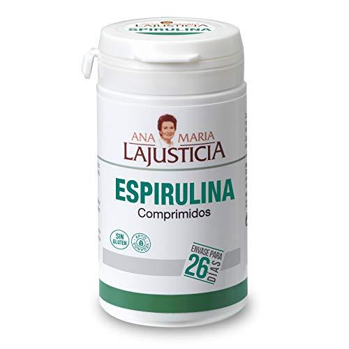 Ana Maria Lajusticia - Espirulina – 160 comprimidos fuente de proteínas, vitaminas y minerales. Detox y saciante. Apto para veganos. Envase para 26 días de tratamiento.