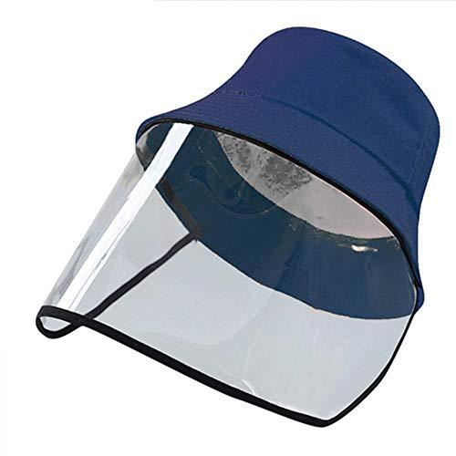 FUN FAN LINE - Gorro Infantil con Pantalla o máscara Facial Protectora Transparente para Mayor Seguridad. Sombrero con Protector de Cara.