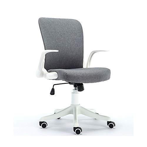 Silla de oficina silla de Inicio Estudio Teórico silla giratoria de la barandilla plegable transpirable personal del respaldo silla de Almacenamiento Soporte lumbar que soportan el peso de 120 kg sill