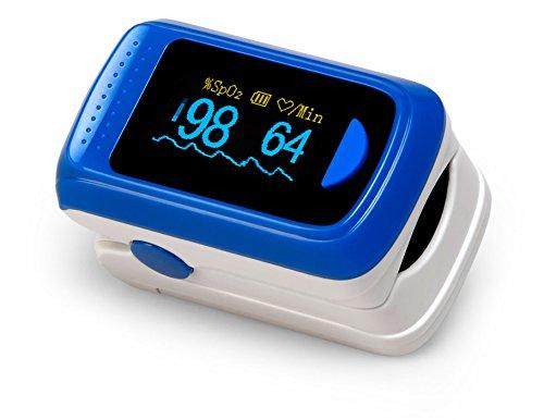 MedX5 Monitor de saturación de oxígeno, Oxímetro de Pulso, Pulsómetro, Pulsioximetro, Medidor de pulso