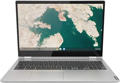 "Lenovo C340 Chromebook 2-in-1 Laptop, 15.6"" Full HD Touchscreen, Intel Core i3-8130U Processor, 4GB RAM, 64GB eMMC SSD, Wi-Fi, Bluetooth, Webcam, Online Class, Chrome OS, KKE 64GB MicroSD Card, Gray"