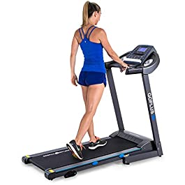 Goplus 2.25HP Electric Folding Treadmill with Manual Incline...