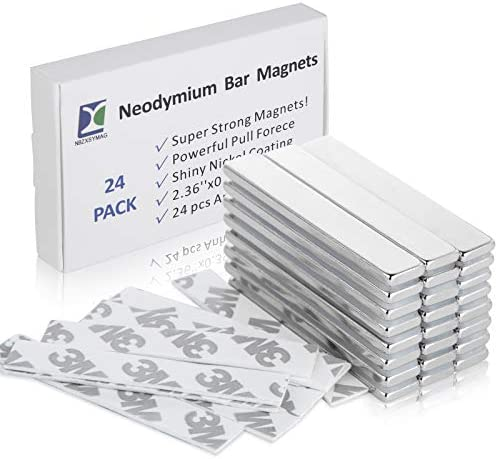 NBZXSYMAG Powerful Neodymium Bar Magnets Strong Permanent Rare Earth Magnets for Fridge DIY product image