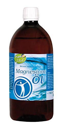 Kopp Vital Magnesium-Öl 100{c1505bfadb381ae49c2ea627ddf9c46fc16a5f96bb377e419f6928da57f77768} Zechstein 1000 ml | vegan | für Anwendungen im Gesundheits- und Wellnessbereich | 1ml enthält ca. 100mg Magnesium (Mg2+)