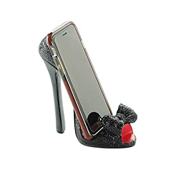 Black Bow Shoe Phone Holder 5.25x2.5x5.62