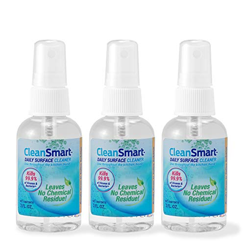 CleanSmart To Go Disinfectant Kills 99.9% of Viruses, Bacteria, Mold and Fungus, 2 oz Bottle (Pack of 3)