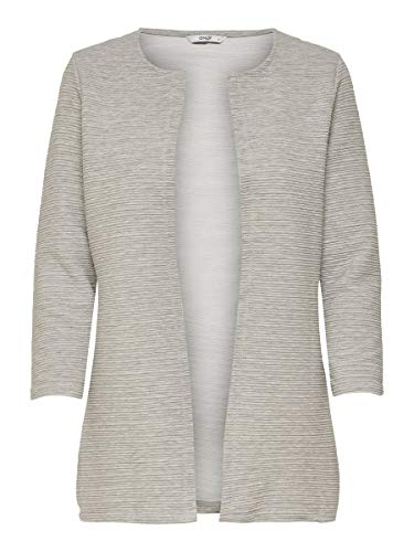 ONLY Damen Strickjacke Lang, lässig XSLight Grey Melange