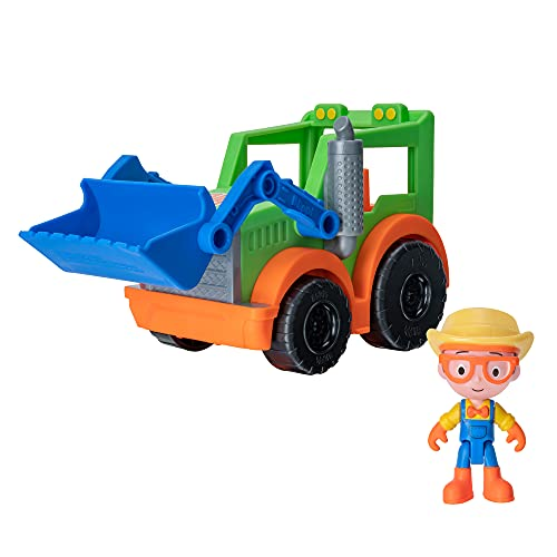 Blippi Tractor - Fun Vehicles with Freewheeling Features Including 3...