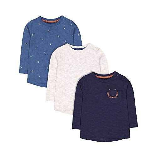 Mothercare Unisex Baby Mb Bp 3pk Tee Ls T-Shirt, Schwarz (Lights Multi 213), 3-4 Yrs (Size:104)