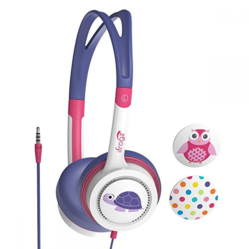 iFrogz Little Rocker, Pink Purple Owl, Dots, Turtle Kids Headphones