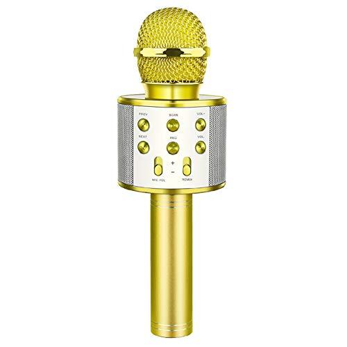 dmazing Kinderspielzeug ab 3-15 Jahren, USB Mikrofon Geschenke Mädchen 3-15 Jahre Spielzeug Junge 7 8 9 Jahre Geburtstagsgeschenk für Mädchen Billiges Geschenk für Kinder Golden