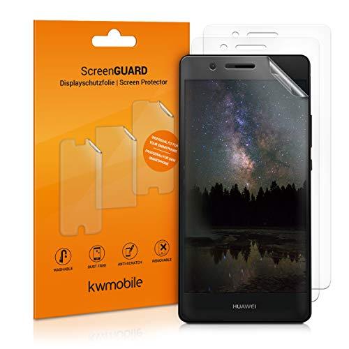 kwmobile 3x pellicola salvaschermo compatibile con Huawei P9 Lite - Film protettivo proteggi telefono - protezione antigraffio display smartphone