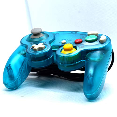 GamceCube Controller, NGC Transparent Teal Blue Gamepad For Gamecube, Wii, Wii U & Switch…