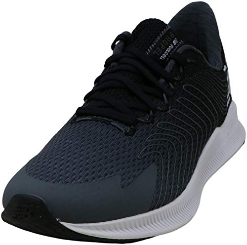 New Balance Women's FuelCell Propel V1 Running Shoe, Black/Grey, 9 W US