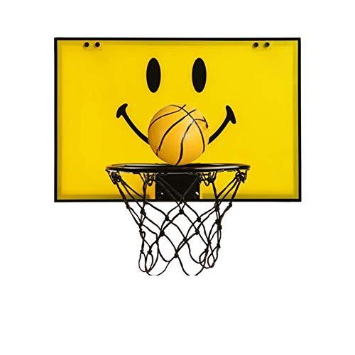 MHCYKJ Tablero Baloncesto Exterior Profesional De Aro Montado En La Pared Juego Mini Canasta Infantil para Niños Juguetes Baño Bebe Pelota