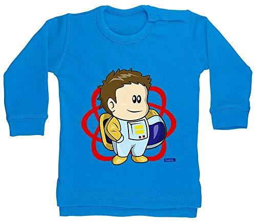 HARIZ Pull-over pour bébé garçon Astronaute lune planète avec carte cadeau dauphin bleu 12-18 mois