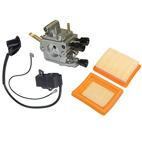 Hippotech Vergaser und Luftfilter und Zündspule passend für Stihl Fs120 Fs200 Fs250 Trimmer Weedeater Freischneider