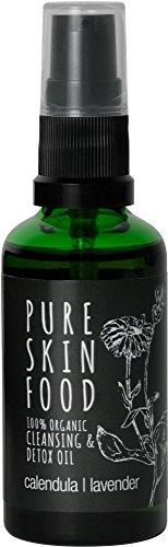 PURE SKIN FOOD Cleansing & Detox Öl, calendula - lavender, 100 ml