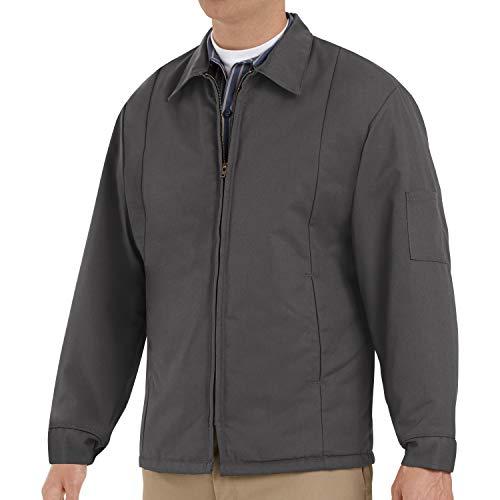 Red Kap Men's Perma-Lined Panel Jacket, Charcoal, Long Medium