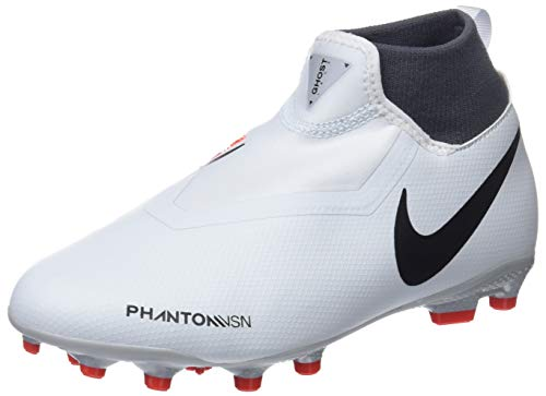 Nike Unisex-Kinder JR Phantom VSN Academy DF FG/MG Futsalschuhe, Mehrfarbig (Pure Platinum/Black/Lt Crimson/Dark Grey 060), 38 EU
