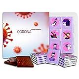 コロナウイルスから身を守る, チョコレートギフトセット, 13x13cm 1箱, Defend Yourself from Coronavirus (Red)