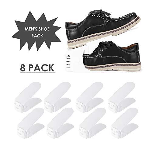 femor 8PCS Schuhstapler, Schuh Slots, für große Schuhe, 3 höhenverstellbar, Schuh-Organizer,...