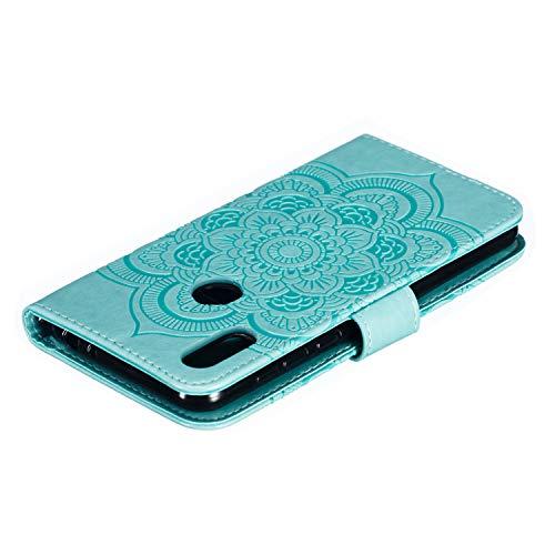 Hülle für Motorola Moto One Hülle Handyhülle [Standfunktion] [Kartenfach] Schutzhülle lederhülle klapphülle für Motorola One - DEEB011300 Grün