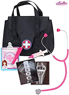 Sophia's 18 Inch Doll Sized Medical Bag & Doll Accessories | Dr Nurse Doll Set of Stethoscope, X-Rays, Syringe, Clipboard, Pen & Doctor Bag - 18 inch Dolls, Perfect for American Girl Dolls & More!