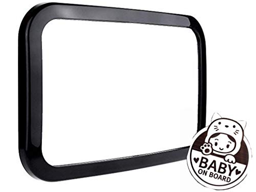 Baby Car Mirror,Safely Monitor Infant Child in Rear Facing Car Seat,Shatterproof, Fully Assembled