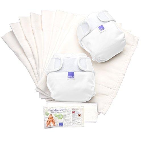 Bambino Mio, mioduo set de actualización de pañales reutilizables, blanco, talla 2 (9 kg+)