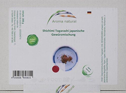 Aroma natural Shichimi Togarashi Gewürzmischung 200 g, 1er Pack (1 x 200 g)