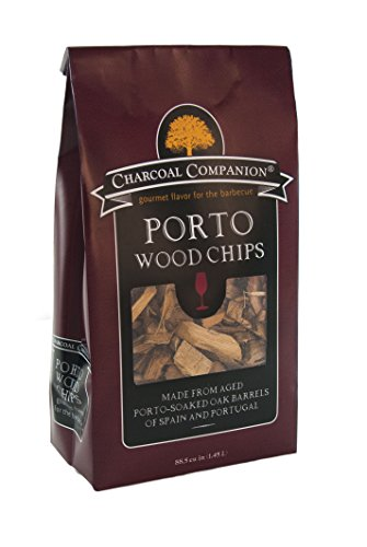 Charcoal Companion Port Soaked Wood Chips / 88.5 cu.in, Brown, 7.59x13.31x24.21 cm