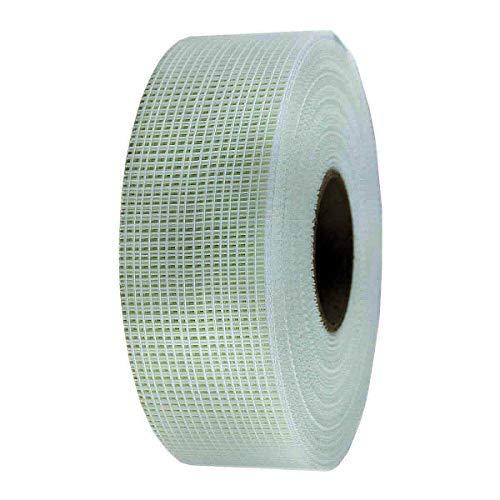 1x webkaufhaus24 50mm x 90m Glasfaserband Gewebeband Fugenband Glasfaser selbsthaftend, Easytape 25ADH Gitterband