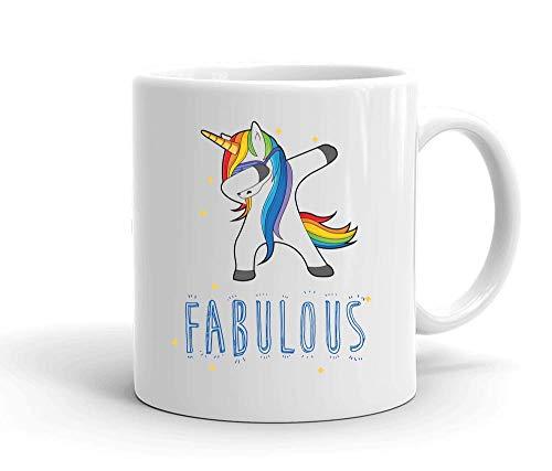 IDcommerce Fabulous Dabbing Unicorn Tasse en Céramique Blanche pour Le Thé Et Le Café