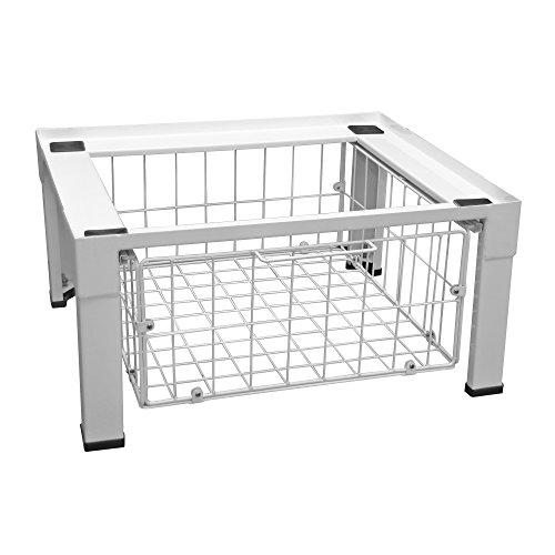 Scanpart Waschmaschinen Unterbausockel (62 x 55 x 30 cm Waschmaschinen-Unterbaugestell, stabiler Waschmaschinensockel 30cm Höhe auch für Trockner) weiß