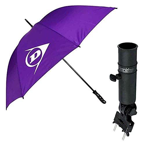 HND Pack Complet Golf Parapluie Anti Retournement Violet et Porte Parapluie