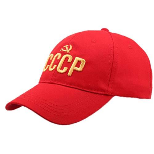 Carta De Algodón Bordado del Sombrero De Béisbol CCCP Soviética Sombrero Casual Soviet Soviet Conmemorativa Sombrero De Sol