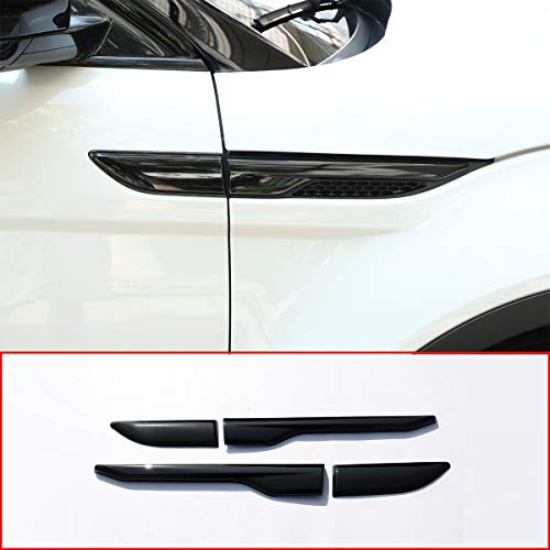 METYOUCAR ABS Side Door Fender Air Vent Outlet Trim for Land Rover Range Rover Evoque 2012-2017 (Piano Black)