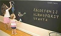 壁 に 張って はがせる 黒板 シート 立て看板 シール インテリア 子供 の 落書き (ブラックボード) ウォール ステッカー 45㎝ × 100㎝