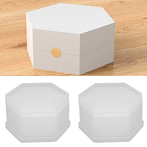 Caja de joyería artesanal Silicona, fácil desmoldeo Caja de joyería Silicona para guardar joyas Pendientes Anillos Llaves