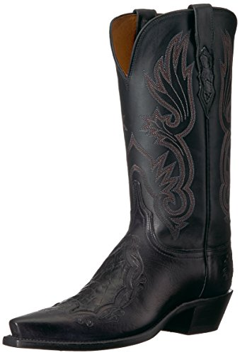 Lucchese Bootmaker Womens Beatrice, Black, 7.5 B US