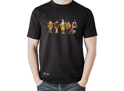 Estirpe Imperial Camiseta de España Soldados Tercios Españoles (M, Negro)