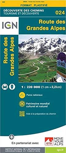 Preisvergleich Produktbild Route des Grandes Alpes 1 : 220.000 (DECOUVERTE DES)
