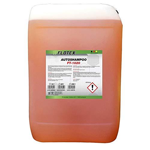 Flotex Shampoo concentrato per auto, 25 l, detergente esclusivo per auto, moto, camion e caravan, lavaggio delicato dall esterno, nanotecnologia e fresco profumo di arancia