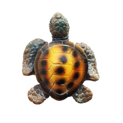 Imán 3D para nevera con forma de tortuga marina, Maldivas Bali, Jamaica, Bahamas Grecia, regalo de recuerdo