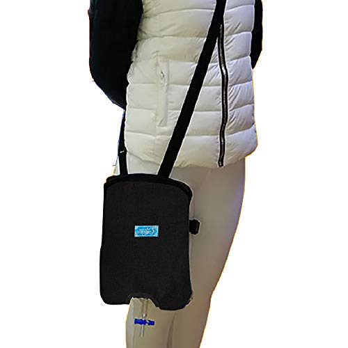 sac taske 採尿バッグ カバー 尿道カテーテル 尿瓶 消臭 導尿 排尿パック (ブラック)