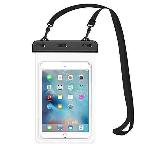 MoKo wasserdichte Hülle, Staubdicht Tablet Tasche für iPad Mini 2019/4/3/2, Samsung Tab 5/4/3, Galaxy Note 8, Tab S2/Tab E/Tab A 8.0, LG G Pad III 8.0, Google Nexus 7(FHD) Tablet bis zu 8.3